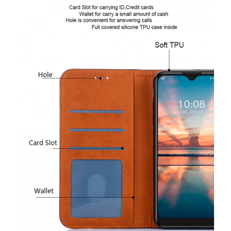 Gold Book Lux MAGNET case for A1 Alpha 20