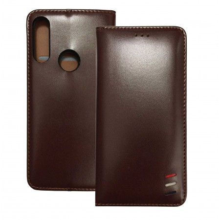 Brown Book Lux MAGNET case for A1 Alpha 20