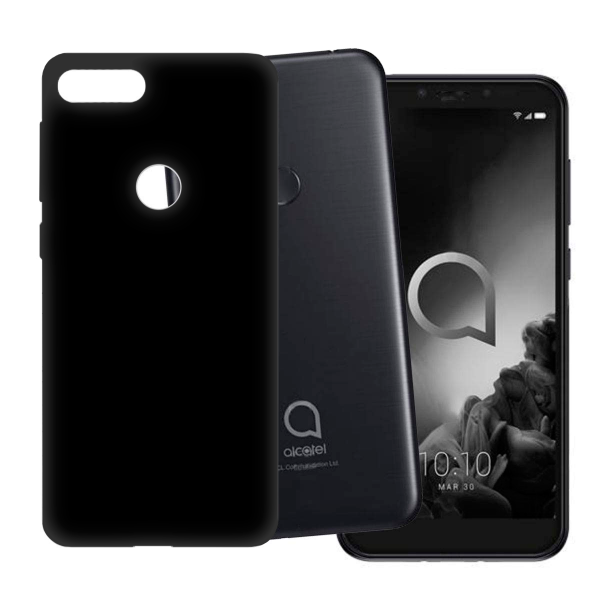 Black TPU Silicone Case UNI for Alcatel 1S