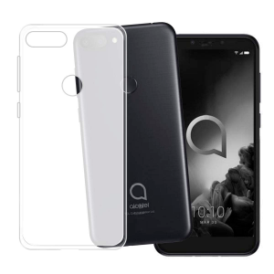 White transparent matt TPU Silicone Case UNI for Alcatel 1S
