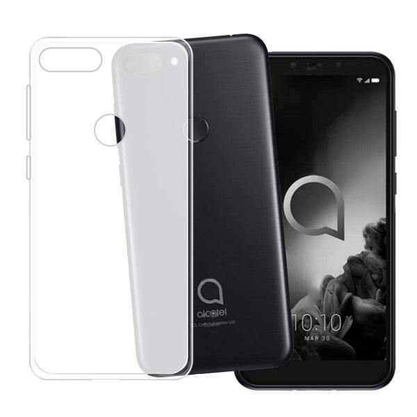 White transparent matt TPU Silicone Case UNI for Alcatel 1S