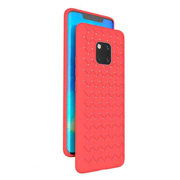 Red Luxury Grid Weaving case for Huawei Mate 20 Pro