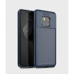 Navy CARBON Fiber back with carbon print for Huawei Mate 20 Pro