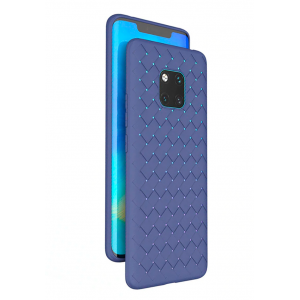 Blue Luxury Grid Weaving case for Huawei Mate 20 Pro