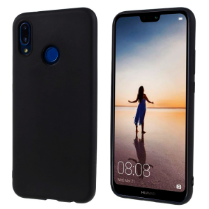 Ultra Thin TPU Silicone Case UNI for Huawei P20 lite - black matt