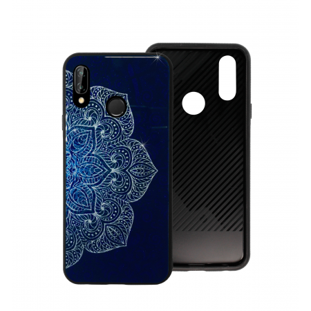 Blue Glass Case BETTER for Huawei P20 lite