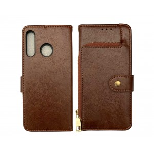 Brown Book Wallet MAGNET case for Huawei P30 Lite