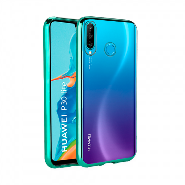 Forcell Electro Case green frame silikone case  for Huawei P30 lite