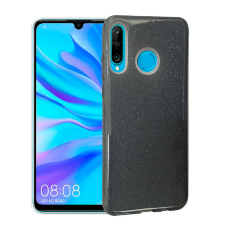 TPU Gel Silicone Case ENSIDA SHINE for Huawei P30 Lite - Space Grey