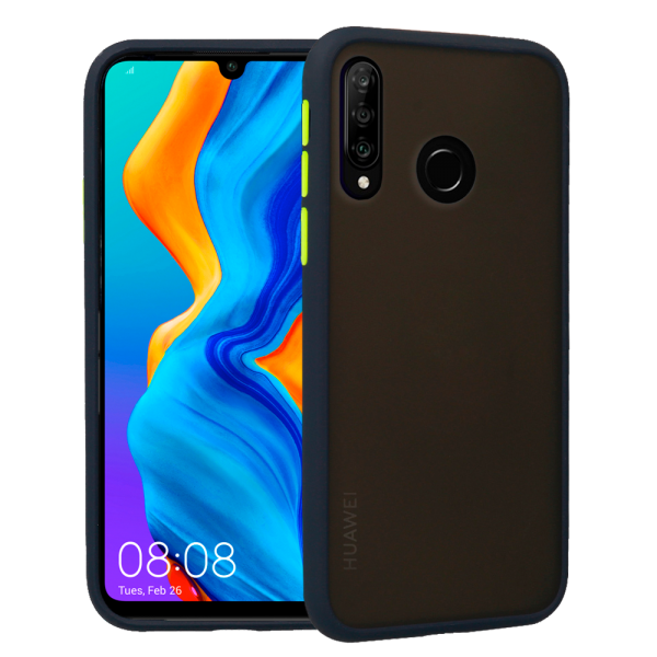 Vennus Color Botton Hard case with silicone frame for Huawei P30 Lite