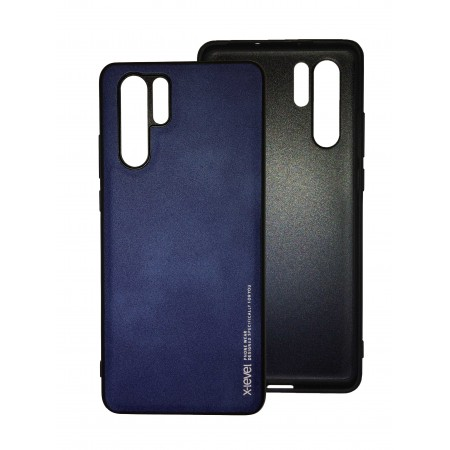 Black/Blue silicone back with X-level Exquisite series for Huawei P30 Pro