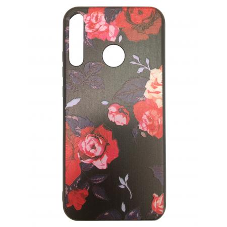 Black Back 3D Roses Flowers for Huawei P40 Lite E