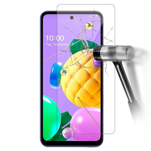 Impact resistant glass screen protector for LG K52