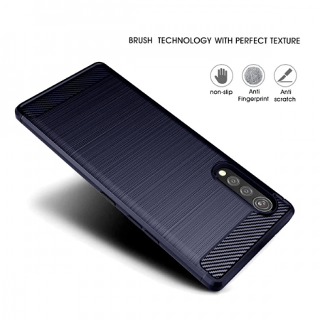 CARBON silicone back with carbon print for LG VELVET / LM-G910EMW