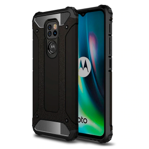 Black Armor Case for Motorola Moto E7 Plus