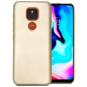Gold silicone back for Motorola Moto E7 Plus