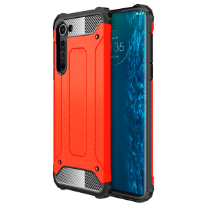 Black / Red Armor Case for Motorola Edge