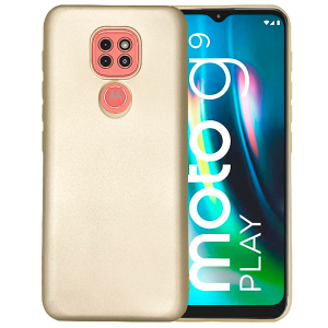 Gold silicone back for Motorola Moto G9 Play