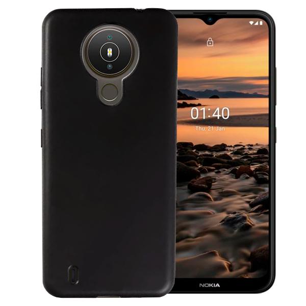 Black matt TPU Silicone Case UNI for Nokia 1.4