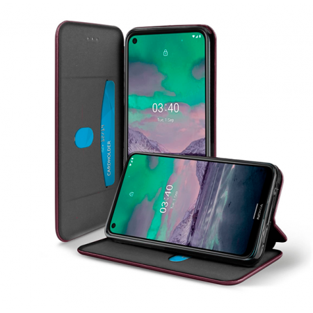 Red-Wine Book Elegance case for Nokia 3.4