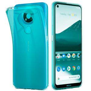 Blue -  transparent TPU Silicone Case for Nokia 3.4
