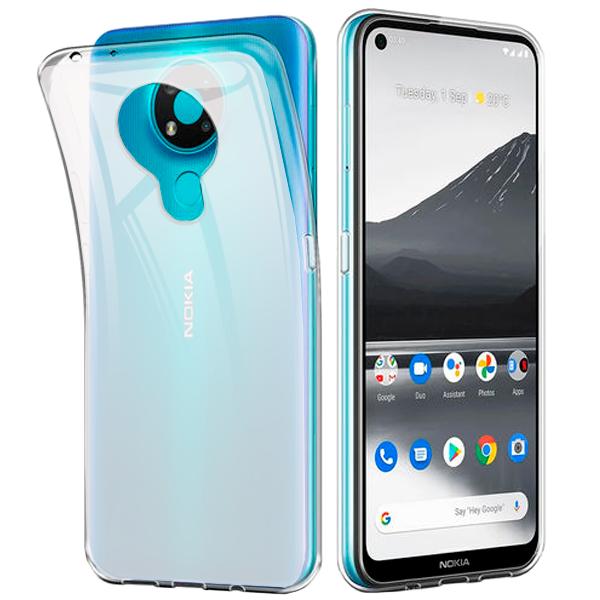 White -  transparent TPU Silicone Case for Nokia 3.4
