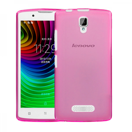 Pink transparent TPU Silicone Case for Lenovo A2010