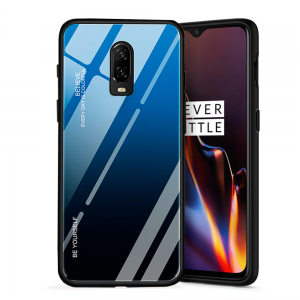 Blue Glass Case Shockproof for OnePlus 6T