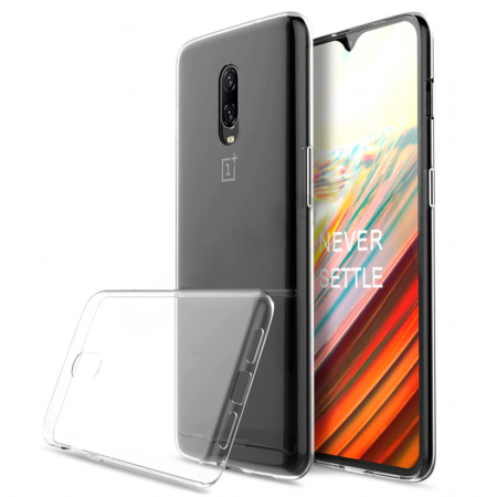 * Promo Pack * Ultra Slim 100% Transparent Silicone Back and Glass Screen Protector for OnePlus 6T