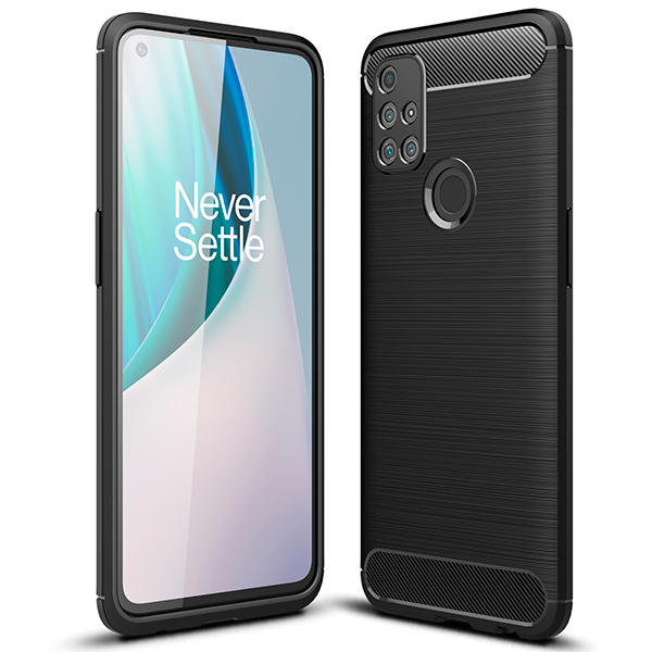 Black CARBON Fiber back with carbon print for OnePlus Nord N10 5G