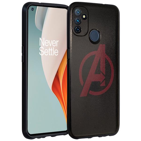 Black matt TPU Silicone Case print Avengers for OnePlus Nord N100 5G