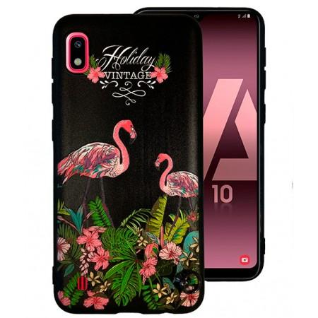 TPU Gel Silicone - Print Flamingo Fiower Case for Samsung Galaxy A10 SM-A105F/DS