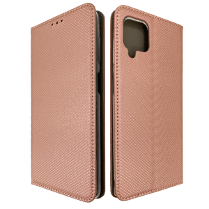 Gold-Rose Book MAGNET case for Samsung Galaxy A12