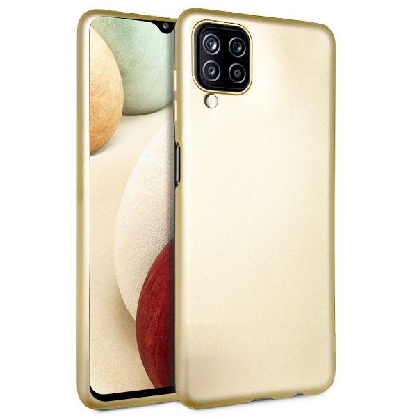 Gold TPU Silicone Case for Samsung Galaxy A12