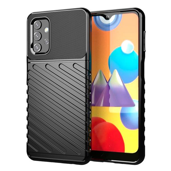 Black Rugged Fiber shockproof case for Xiaomi Redmi 9A