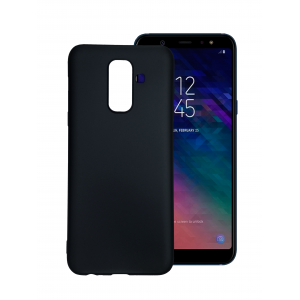 Black TPU Gel Silicone Case for Samsung Galaxy A6 Plus 2018