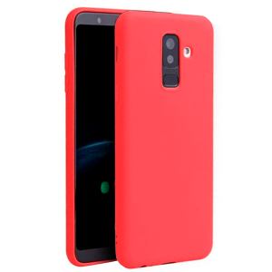 Red TPU Gel Silicone Case for Samsung Galaxy A6 Plus 2018