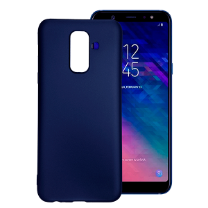 Blue TPU Gel Silicone Case for Samsung Galaxy A6 Plus 2018