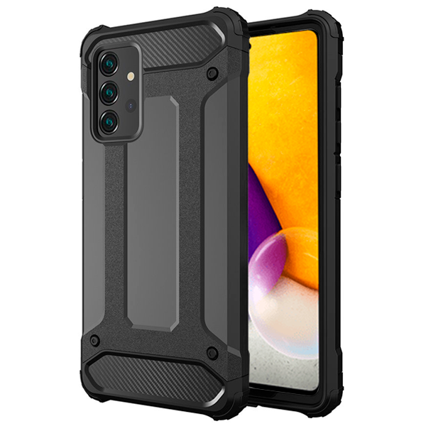 Black Armor Case for Samsung Galaxy A72 4G / 5G