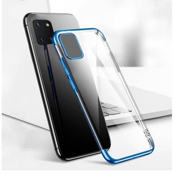 Electro Case blue frame silikone case  for Samsung Galaxy Note10 Lite