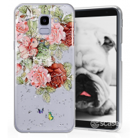Lovely Flower - Rose print TPU Silicone Case for Samsung Galaxy J6 j600F 2018