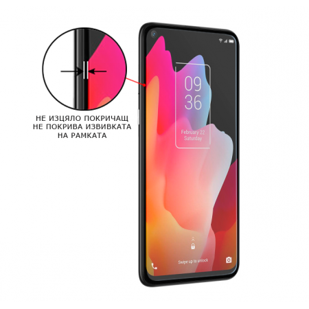 Impact resistant glass screen protector for TCL 10L