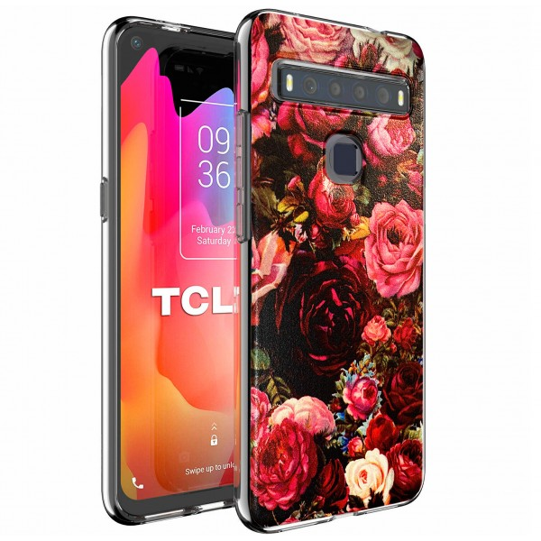 """TPU Silicone Case print """" Roses """" for TCL 10L"""