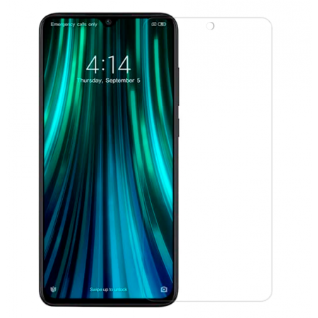 * Promo Pack * Ultra Slim 100% Transparent Silicone Back and Glass Screen Protector for Xiaomi Redmi Note 8 Pro