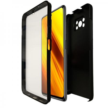 Black all-cover 360 * two-piece case for Xiaomi Poco X3