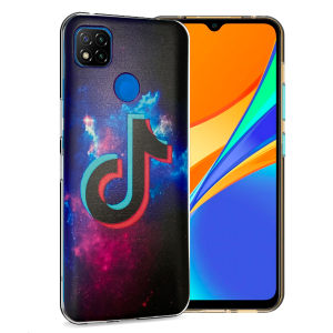 "Ultra Thin TPU Silicone Case print "" TikTok "" for Xiaomi Redmi 9C NFC"