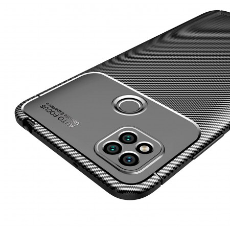 Black Plaid Fiber back with carbon print for Xiaomi Redmi 9C / M2006C3MG
