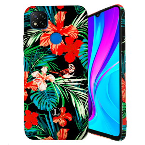 LUXO Black #H8 print TPU Silicone Case for Xiaomi Redmi 9C