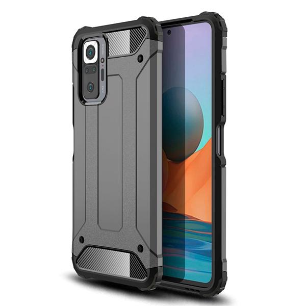 Black/Grey Armor Case for Xiaomi Redmi Note 10 / 10s