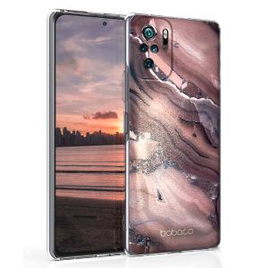 Ultra Thin TPU Silicone Case print Stone Rose/Gold for Xiaomi Redmi Note 10 / 10S